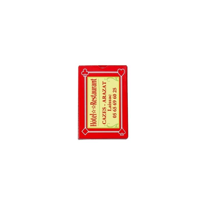 Jeu de 32 cartes françaises - Jeu de cartes publicitaire