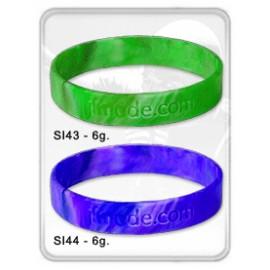 26-205 Bracelet publicitaire en silicone marbré personnalisé