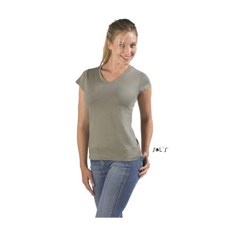 26-127 T-shirt Moon col V pour femme  personnalisé