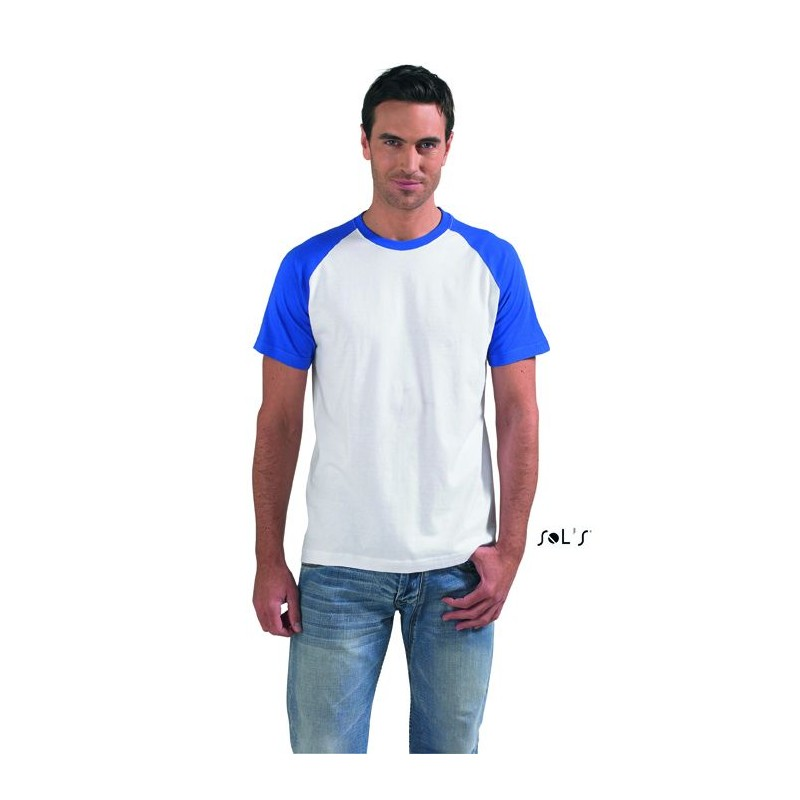 T-shirt personnalisé bicolore 150g Funky