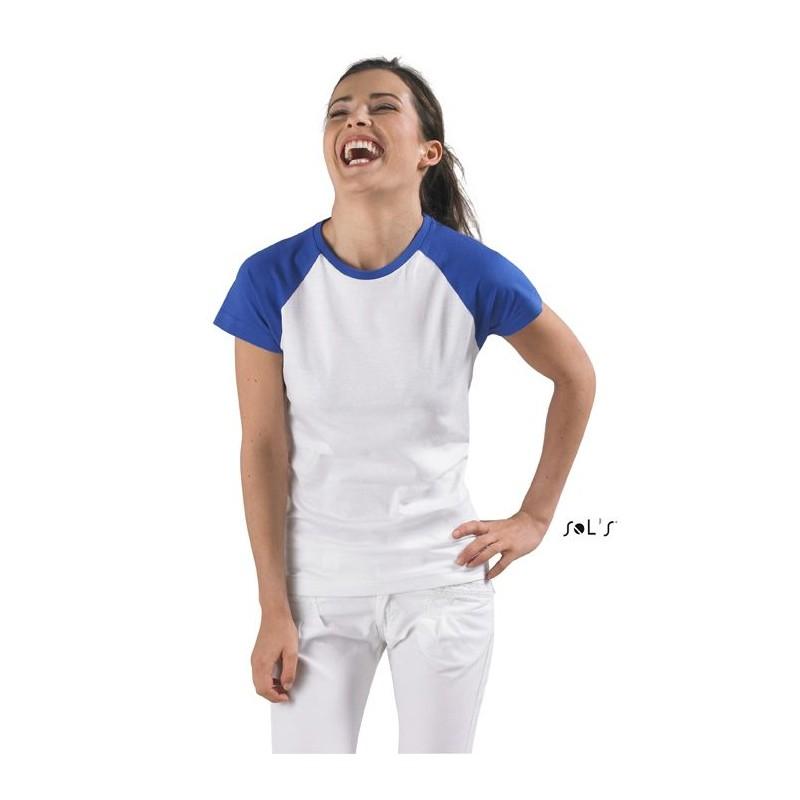 Tee shirt femme bicolore Milky - T-shirt manches courtes - cadeaux d'affaires
