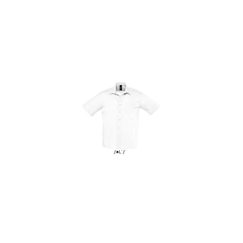 Chemise publicitaire homme MC Bristol - chemise publicitaire homme - objets publicitaires