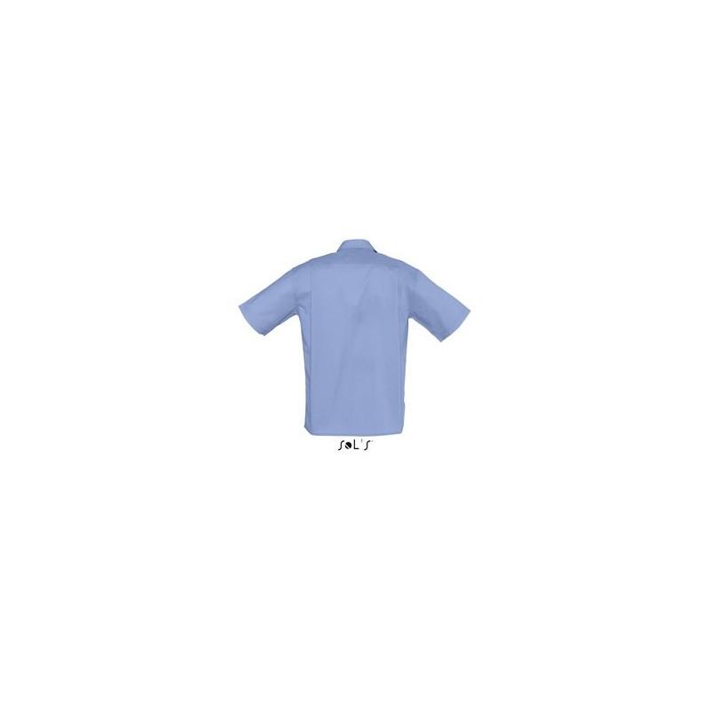 Chemise publicitaire homme MC Bristol - chemise publicitaire homme - marquage logo