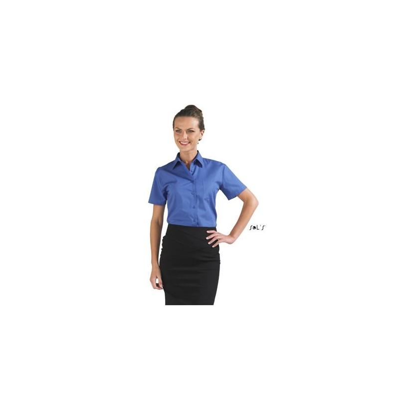 Chemisette femme en popeline Energy - chemise publicitaire femme - marquage logo