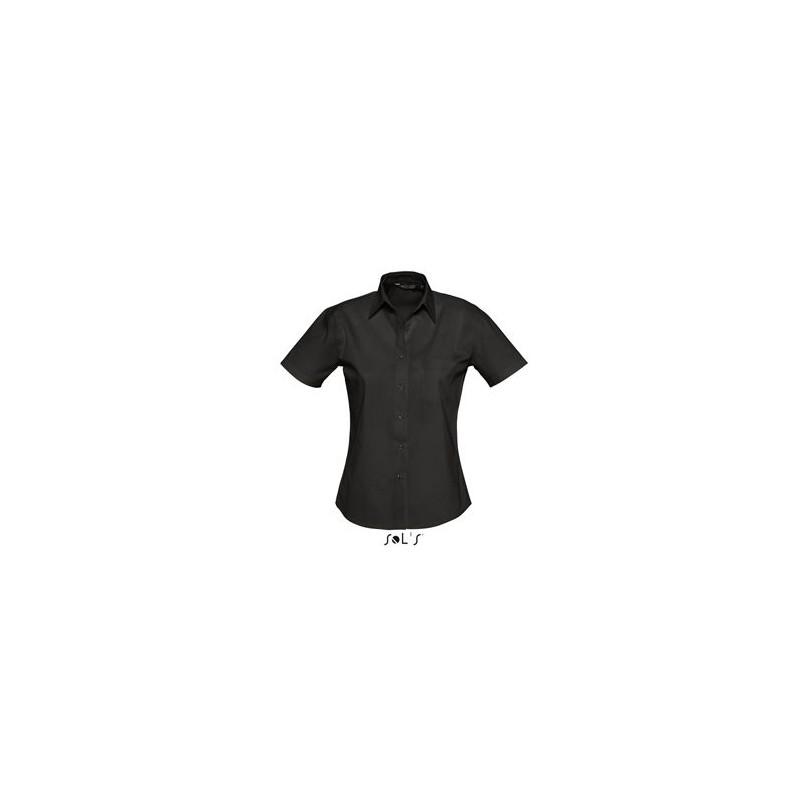 Chemisette femme en popeline Energy - chemise publicitaire femme - objets publicitaires