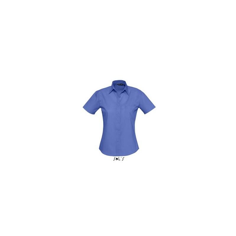 Chemisette femme en popeline Energy - chemise publicitaire femme - cadeaux d'affaires