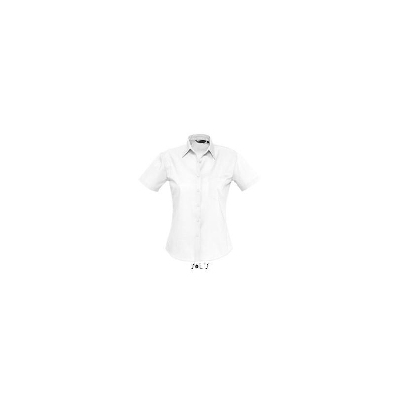 Chemisette femme en popeline Energy - chemise femme publicitaire