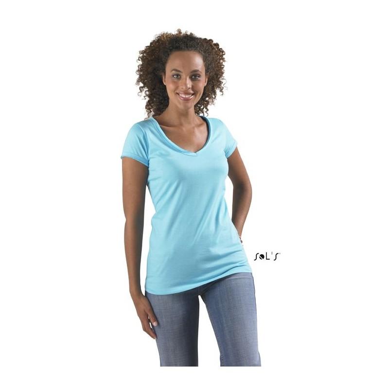 T-shirt femme col V Mild - T-shirt manches courtes - cadeaux d'affaires