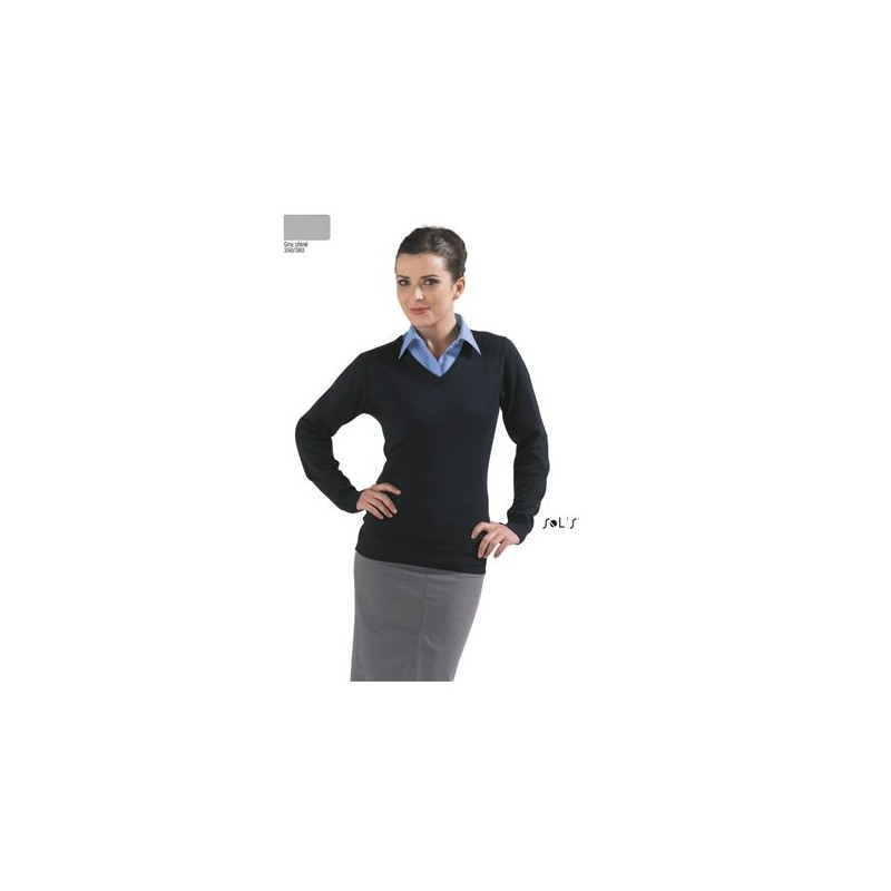 Pull femme col V Galaxy - Pull - objets promotionnels