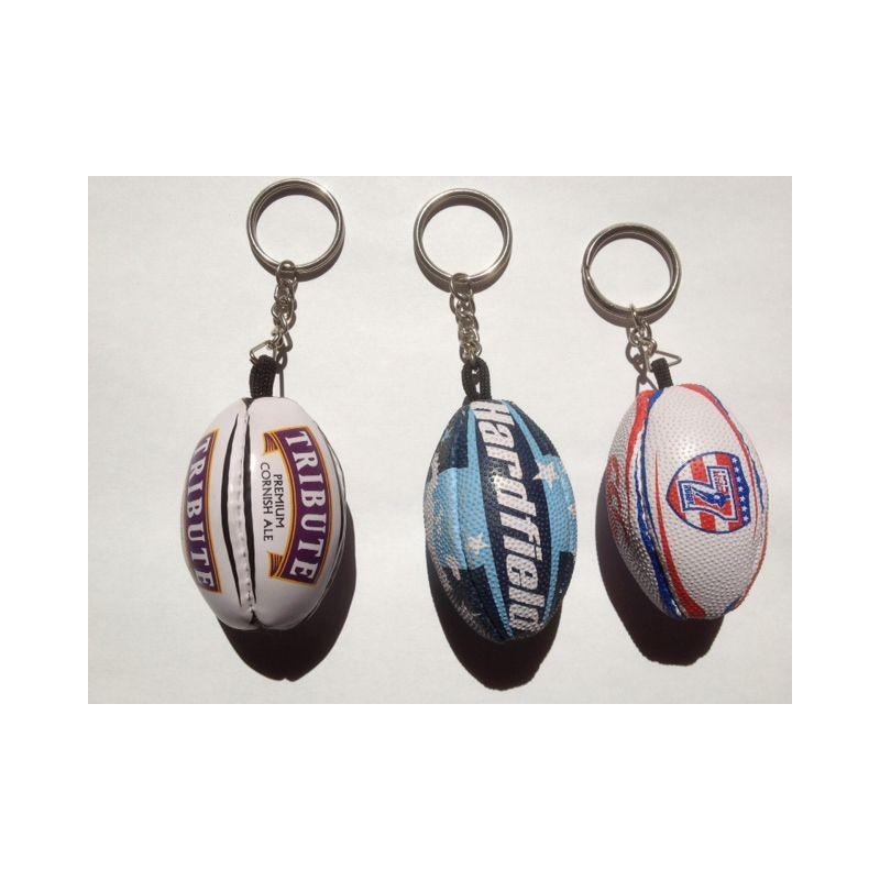 Porte-clés ballon de rugby publicitaire personnalisable - porte-clés sport personnalisé