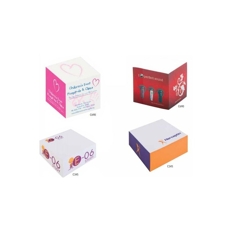 Cube Post-it publicitaire - Post-it publicitaire, bloc-mémo - publicité par l'objet