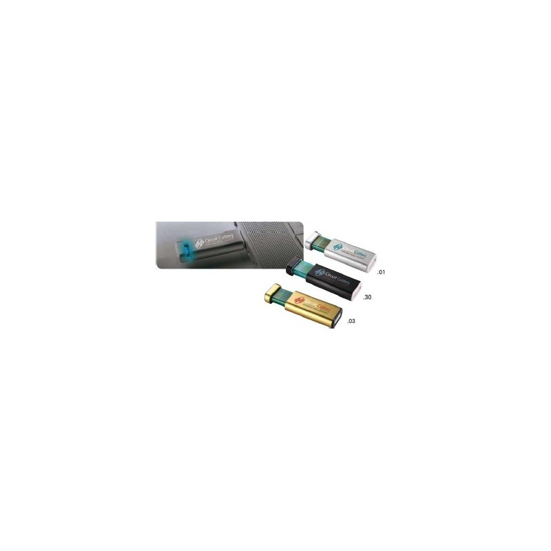 Clé USB 2.0 Alloy - Clé USB rétractable publicitaire - objets promotionnels