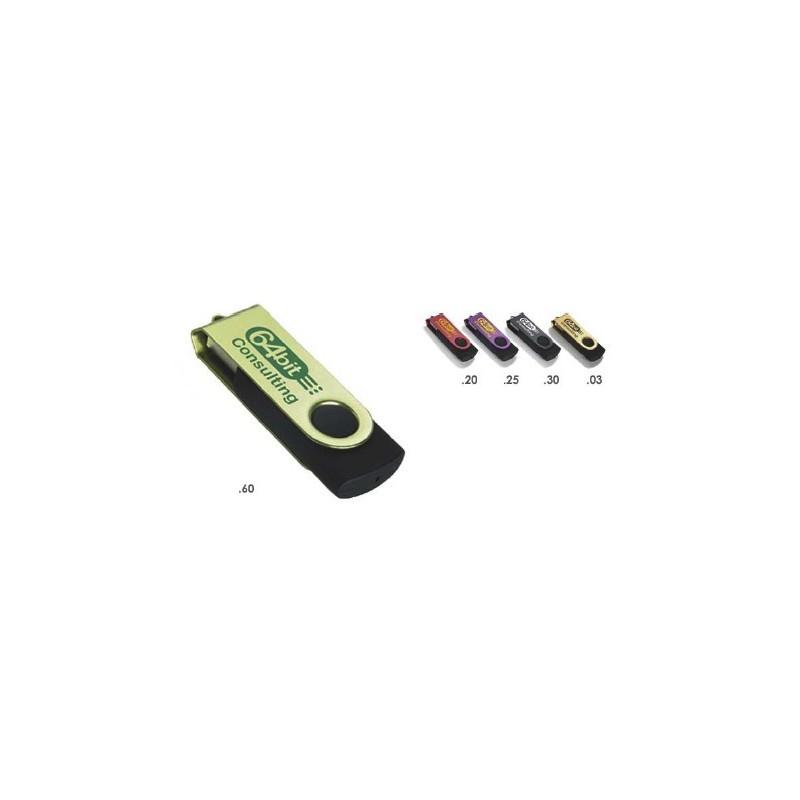 Clé USB Colour Accent - Clé USB rotative publicitaire - objets publicitaires
