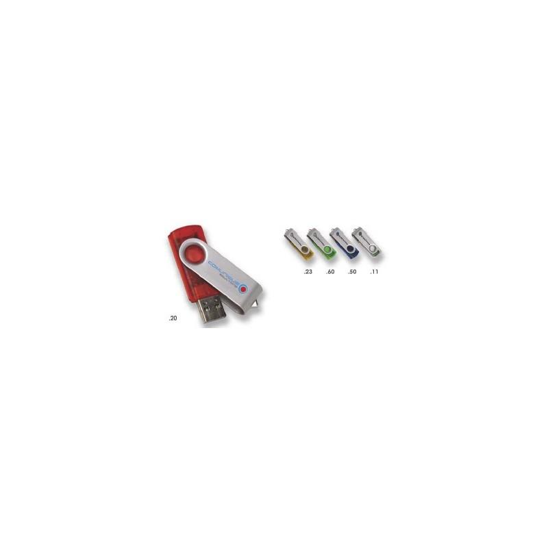 Clé USB Colour Accent - Clé USB rotative publicitaire - cadeaux d'affaires