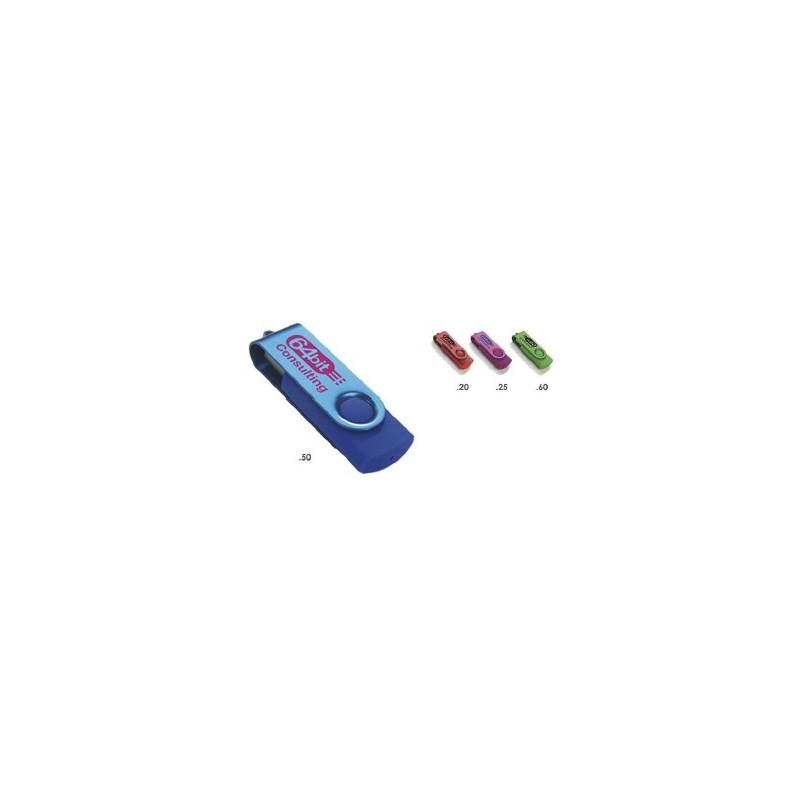 Clé USB Colour Accent - Clé USB rotative publicitaire - objets promotionnels