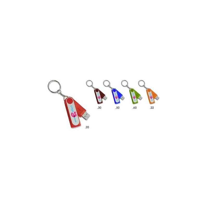 Clé USB 2.0 Slim Round - Clé USB rotative publicitaire - cadeaux d'affaires