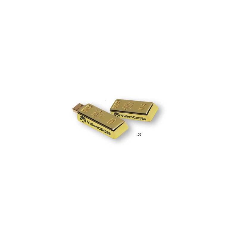 Clé USB 2.0 Golden - Clé USB originale publicitaire personnalisé