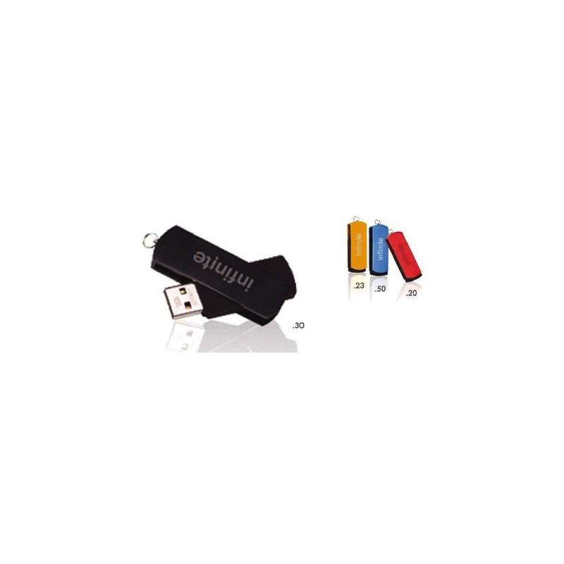 Clé USB 2.0 Slide - Clé USB rotative publicitaire - objets publicitaires