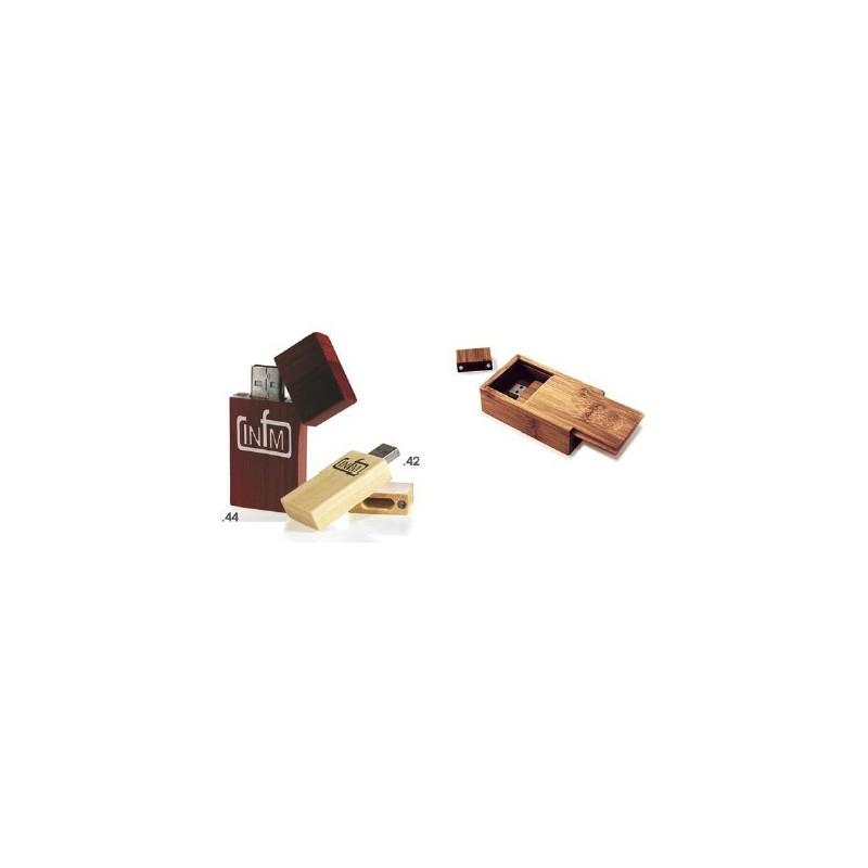Clé USB publicitaire Bamboo - Clé USB en bois publicitaire - objets publicitaires