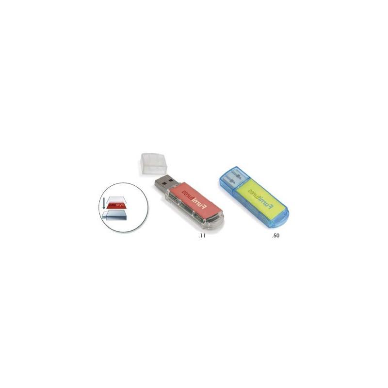 Clé USB 2.0 Translucide - Clé USB classique - objets promotionnels