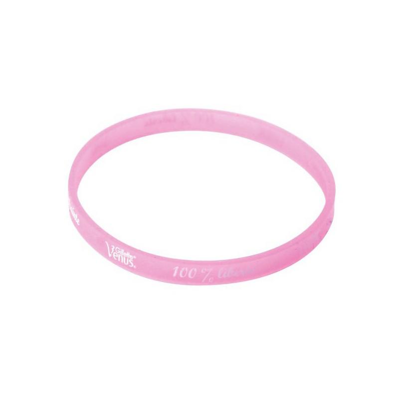 19-148 Bracelet personnalisé en silicone fin personnalisé