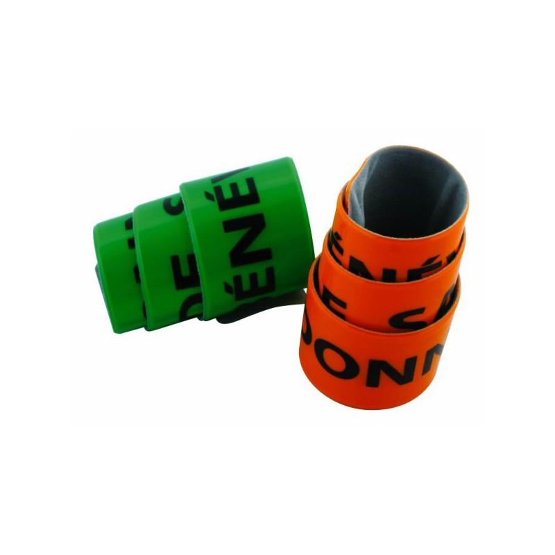 Bracelet publicitaire fluo rétro-réfléchissant - Autres bracelets publicitaires - cadeaux d'affaires
