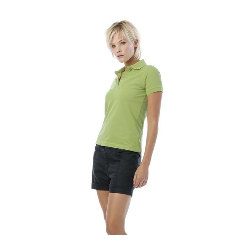 Polo Safran Pure Women B&C - Polo femme - objets promotionnels
