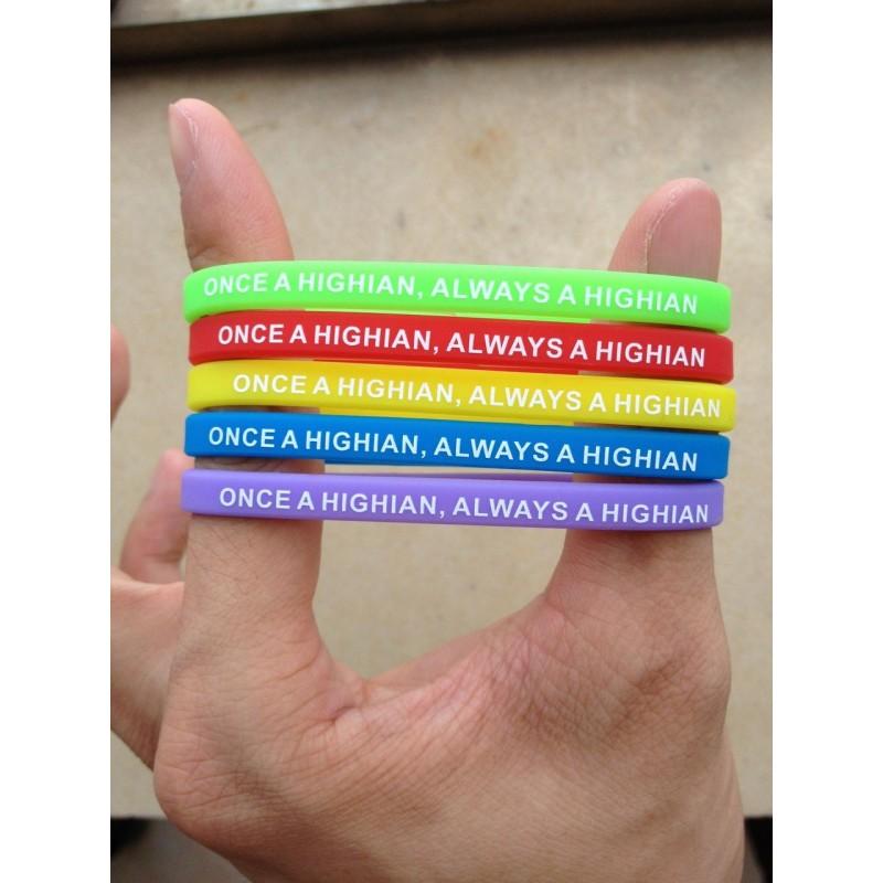 Bracelet personnalisé en silicone fin - Bracelet en silicone publicitaire personnalisé