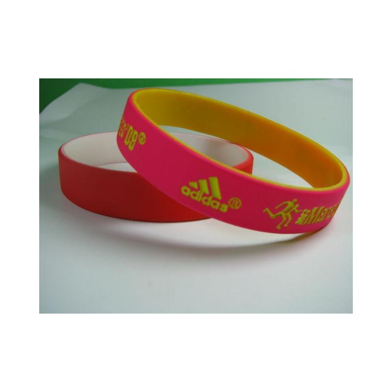 Bracelet personnalisé logo phosphorescent - Bracelet en silicone publicitaire publicitaire