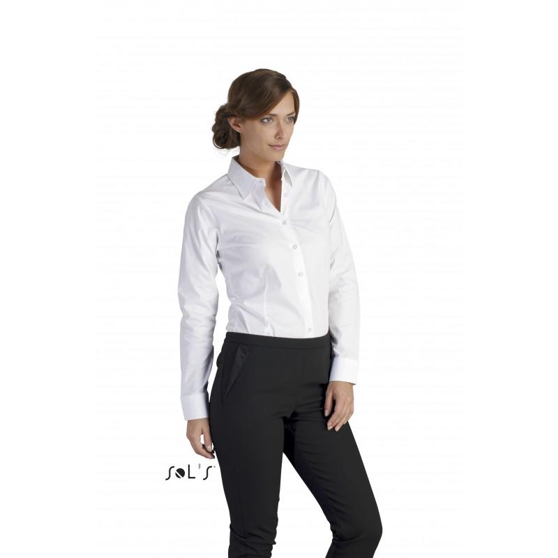 Chemise ML femme Eden - chemise publicitaire femme - publicité par l'objet