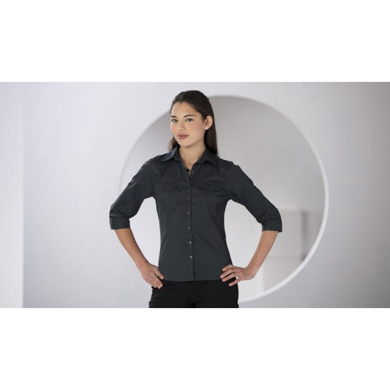 Chemise femme manches 3/4 - chemise publicitaire femme - objets promotionnels