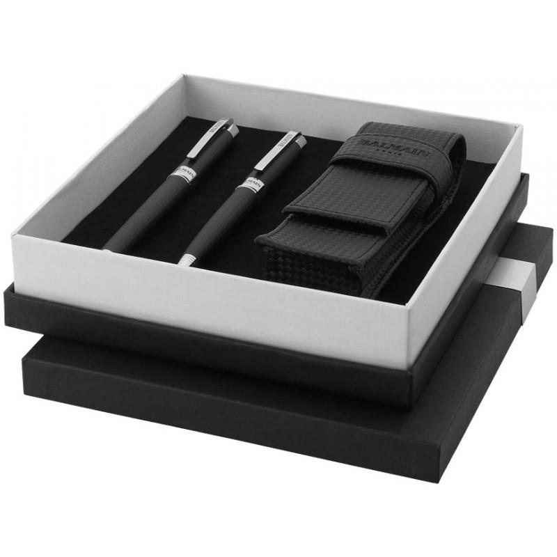Parure de stylos Mende de Balmain - Stylo de luxe, parure - marquage logo