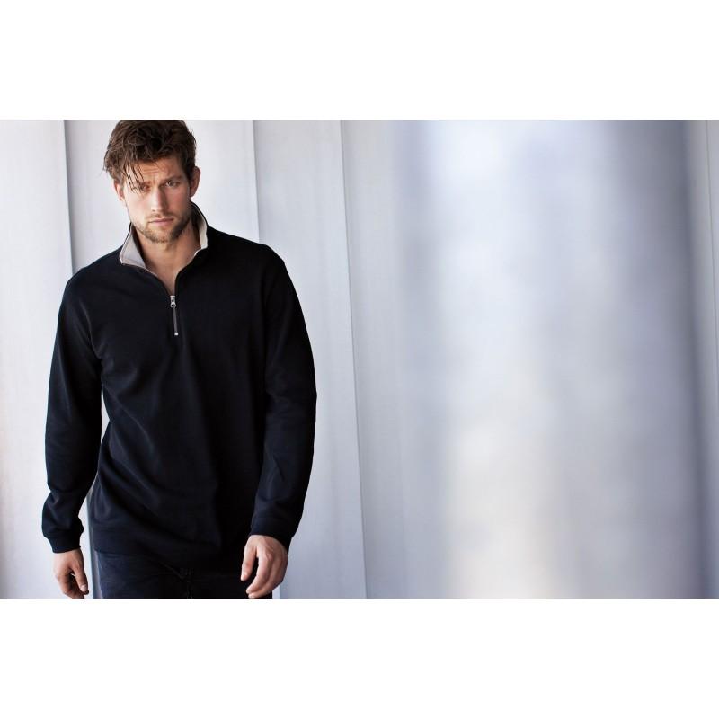 Sweat-shirt homme col zippé Trucker - Sweat-shirt - produits incentive