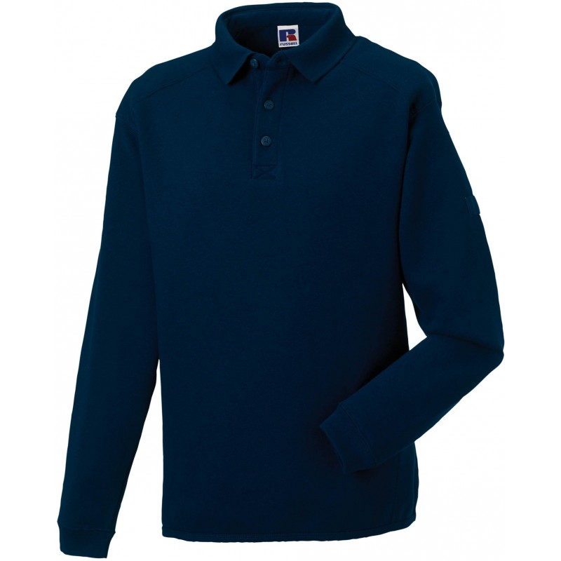 Sweat-shirt à col polo Workwear Russell - Sweat-shirt publicitaire - cadeaux d'affaires