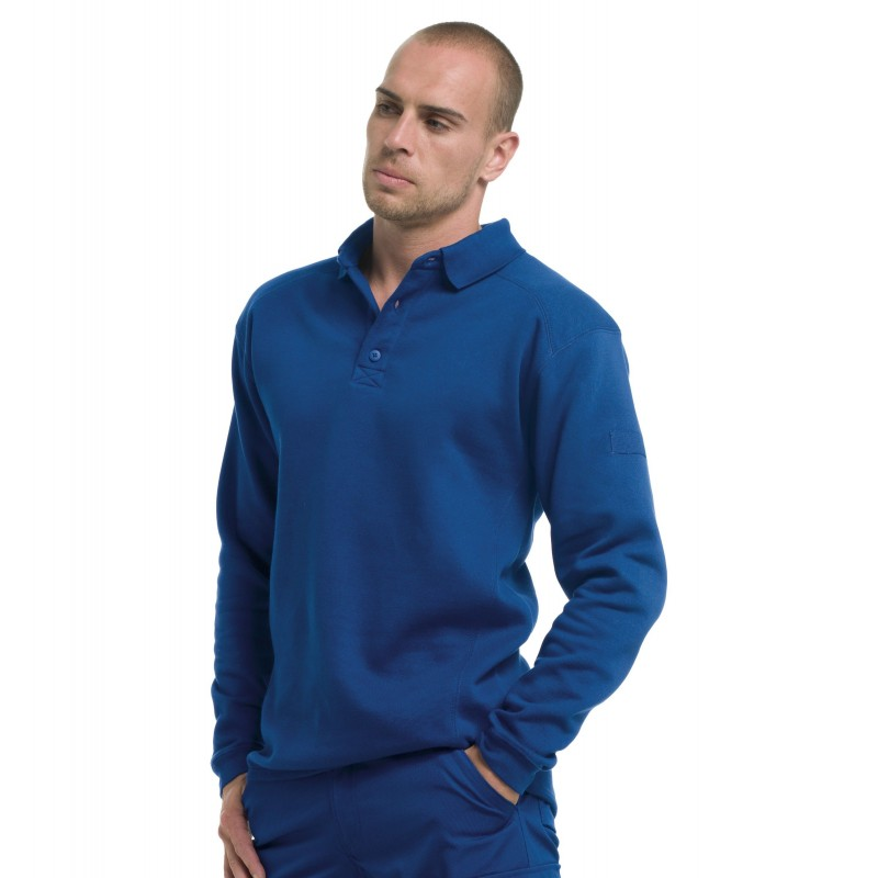 Sweat-shirt à col polo Workwear Russell - Sweat-shirt publicitaire
