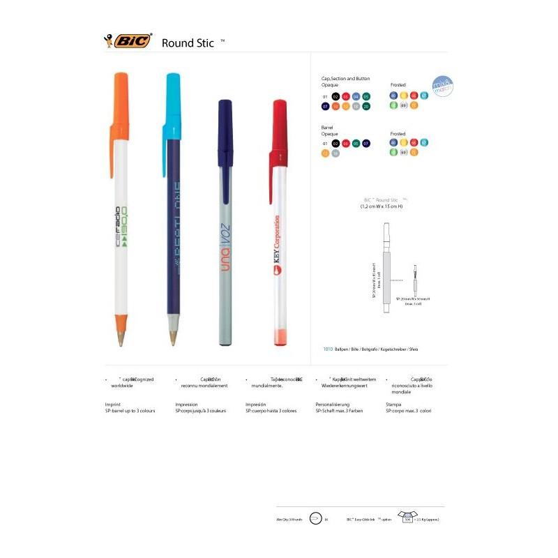 Stylo bille Round Stic BIC - Stylo plastique - cadeau d'entreprise personnalisé