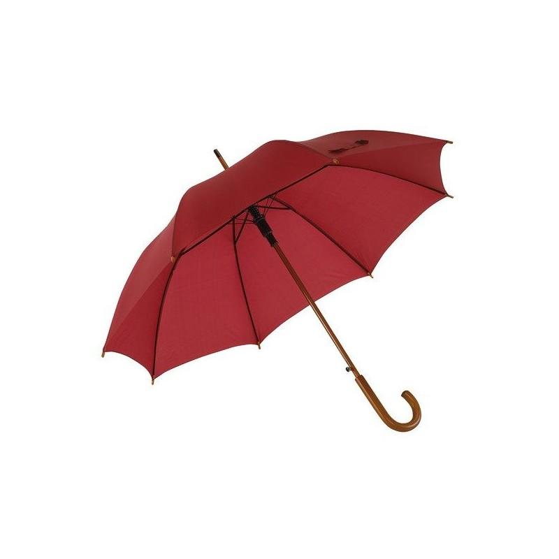 Parapluie automatique en bois - Parapluie demi-golf publicitaire - marquage logo