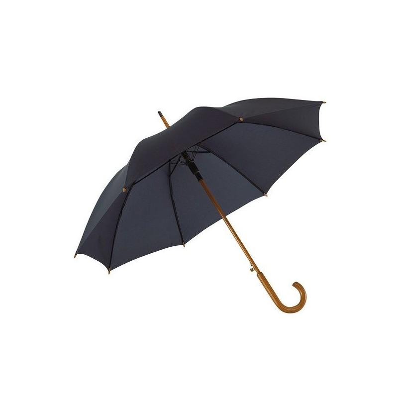 Parapluie automatique en bois - Parapluie demi-golf publicitaire - publicité par l'objet
