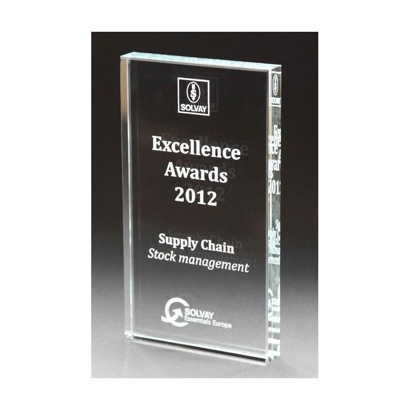 94-000 Trophée en verre entièrement personnalisable personnalisé