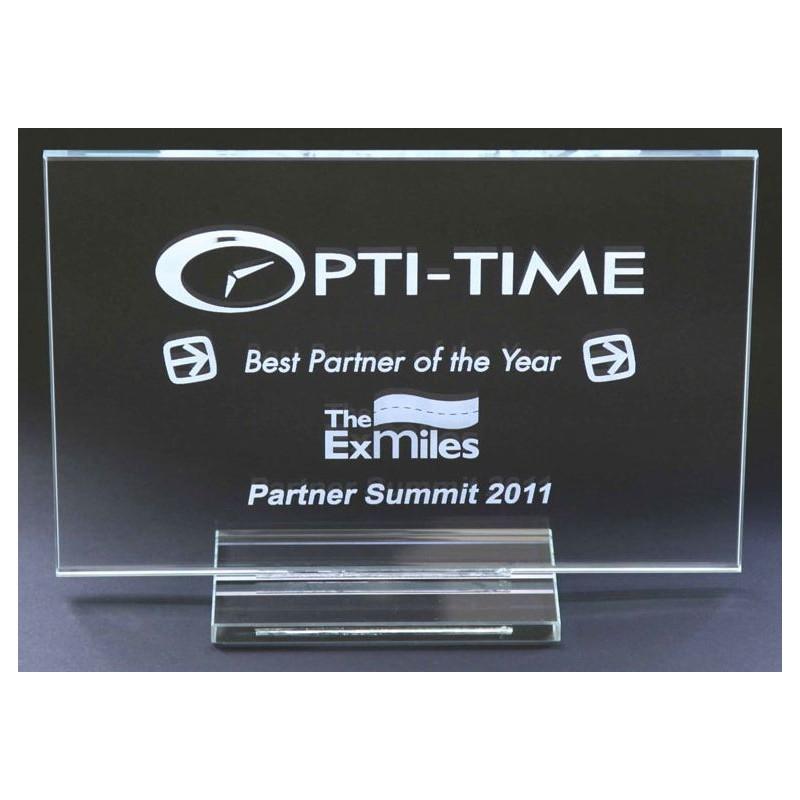 Trophée en verre entièrement personnalisable - Trophée et médaille publicitaire