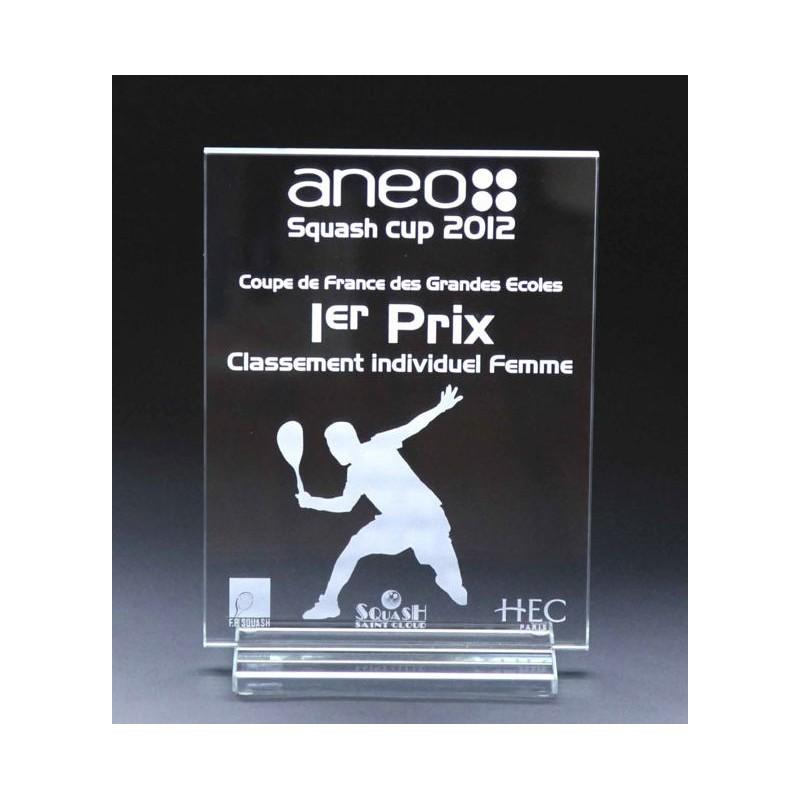 Trophée en verre entièrement personnalisable - Trophée et médaille sur mesure