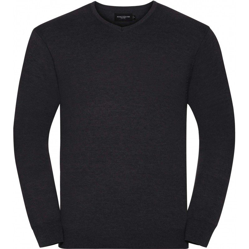 Pullover homme col V - Pull - marquage logo