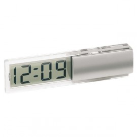 Horloge de bureau transparente