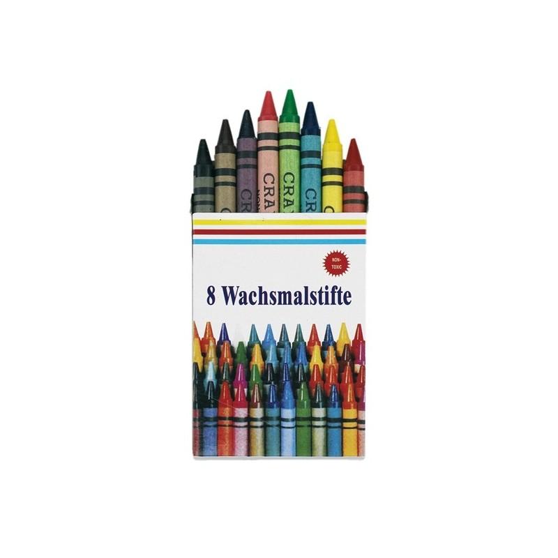 Pochette crayons de couleur - Craies et crayons de cire publicitaire