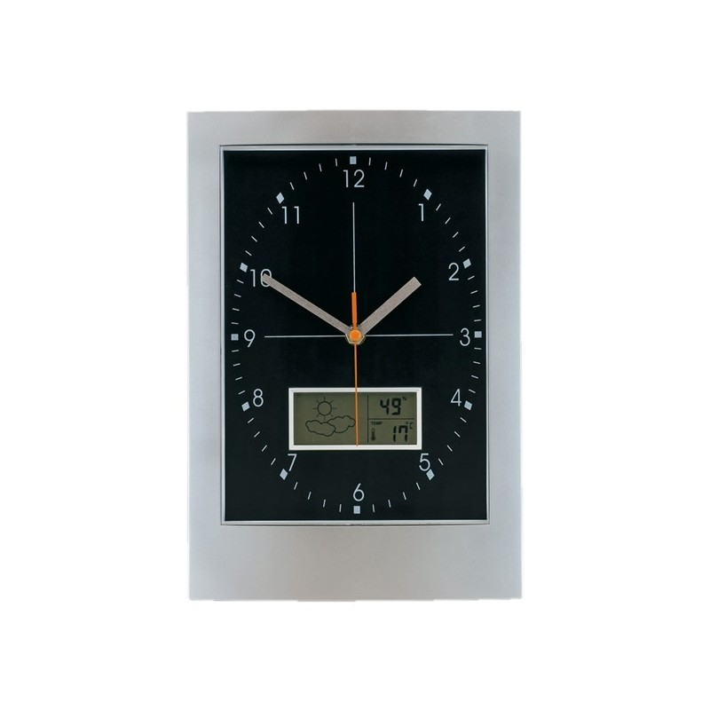 pendule murale avec station m t o horloges personnalis es murales. Black Bedroom Furniture Sets. Home Design Ideas