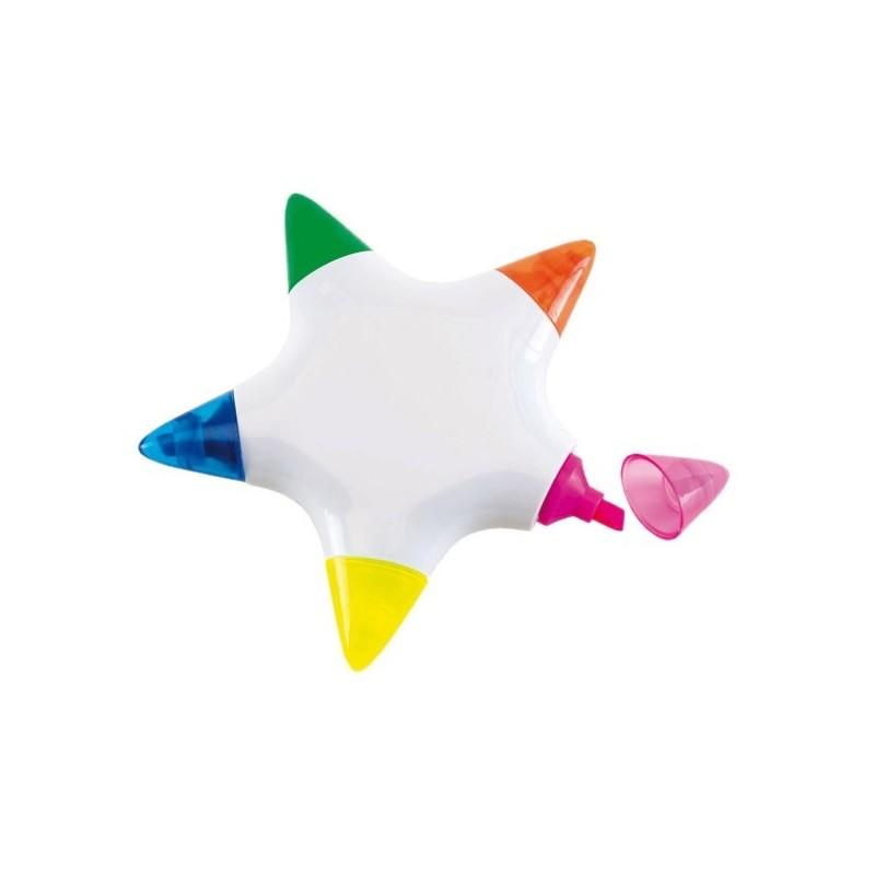 Surligneur Star 5 couleurs  - Surligneur et feutre sur mesure