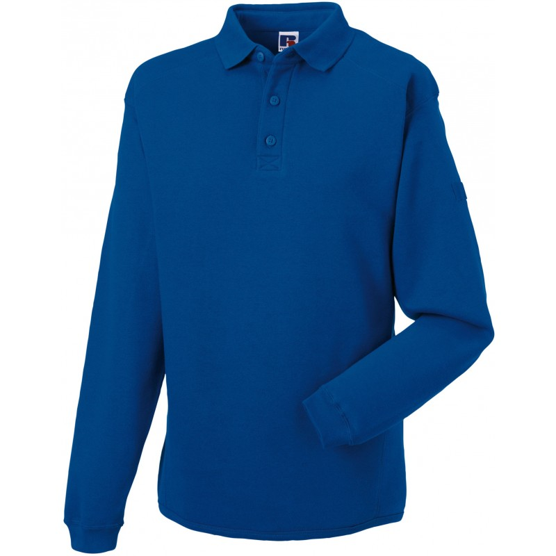 Sweat-shirt à col polo Workwear Russell - Sweat-shirt publicitaire personnalisé
