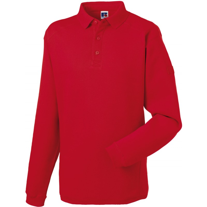 Sweat-shirt à col polo Workwear Russell - Sweat-shirt publicitaire - objets publicitaires