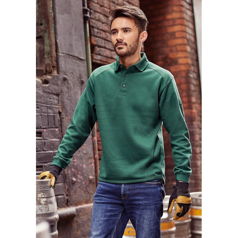 54-608 Sweat-shirt à col polo Workwear Russell personnalisé