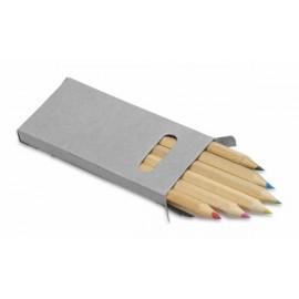 30-286 Crayons de couleur boite recyclée personnalisé